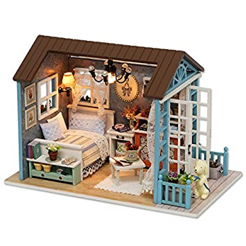 homemade dolls house furniture. Cuteroom Dollhouse Miniature DIY Dolls House Room Kit With Furniture Handicraft Xmas Gift Forest Time Homemade N