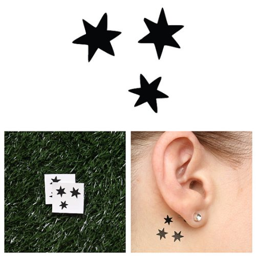 Makeup Kit Rock Star (Tattify Star Temporary Tattoo - At Your Fingertips (Set of 2) - Other Styles Available - Premium and Fashionable Temporary Tattoos - Tattoos that are Long Lasting and Waterproof)