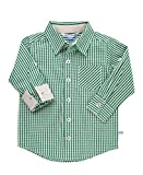 RuggedButts Baby/Toddler Boys Pine Gingham Button