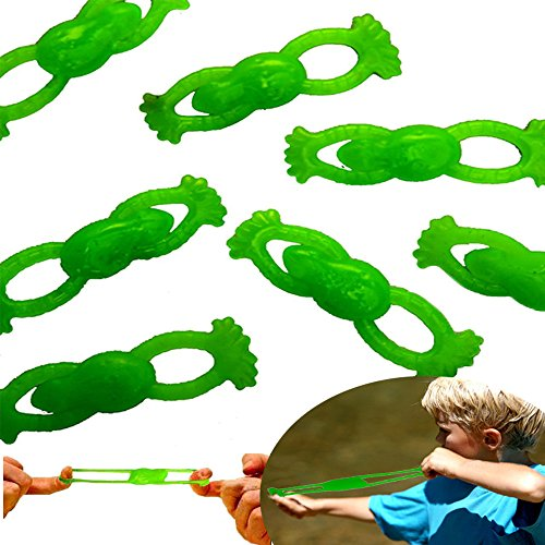 [Dazzling Toys Stretchable Flying Slingshot Frogs, 3.5