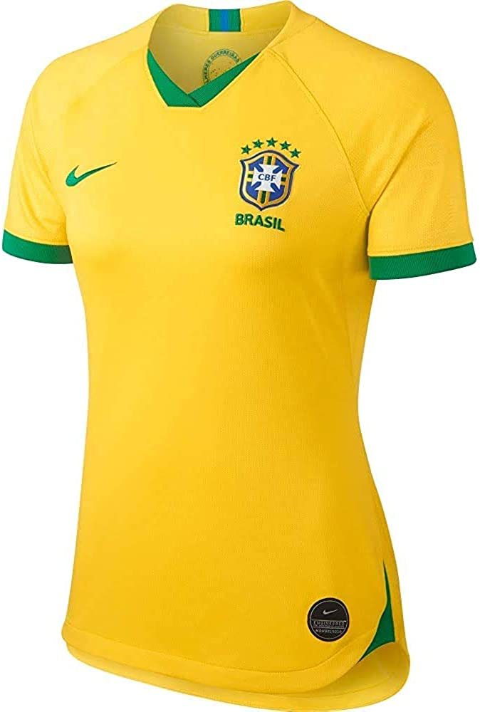 Nike Womens Brasil Breathe Stadium Jersey Short Sleeve Home