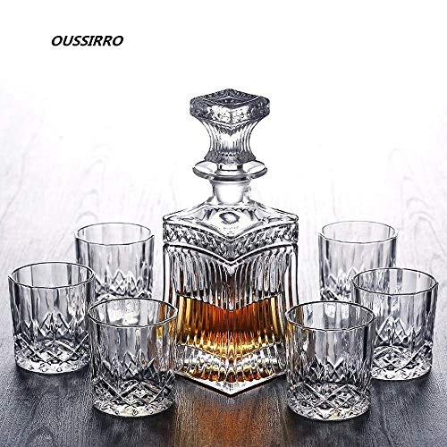 Russia Vodka Decanter Whiskey Bottle Crystal Glass Wine Beer Containers Glass Bottle Glass Cup Home Bar Tools Decoration ()
