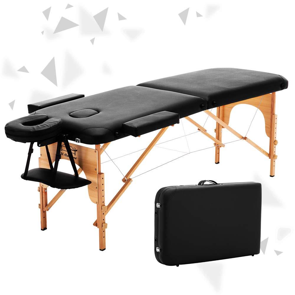 JL Comfurni Table de massage Beauty Lit pliable portable Tattoo Canap/é
