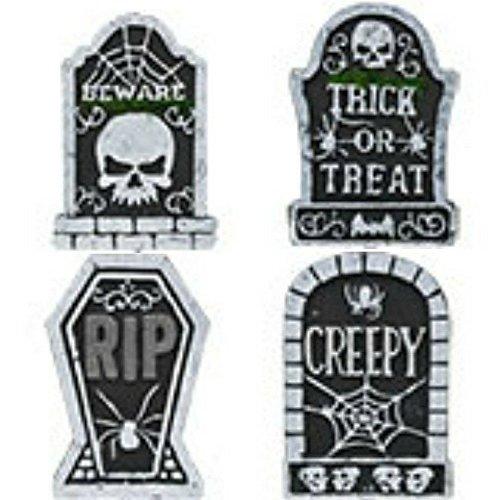 Gravestones For Halloween (Set of 4 Polyfoam Tombstones Halloween Yard Decorations)