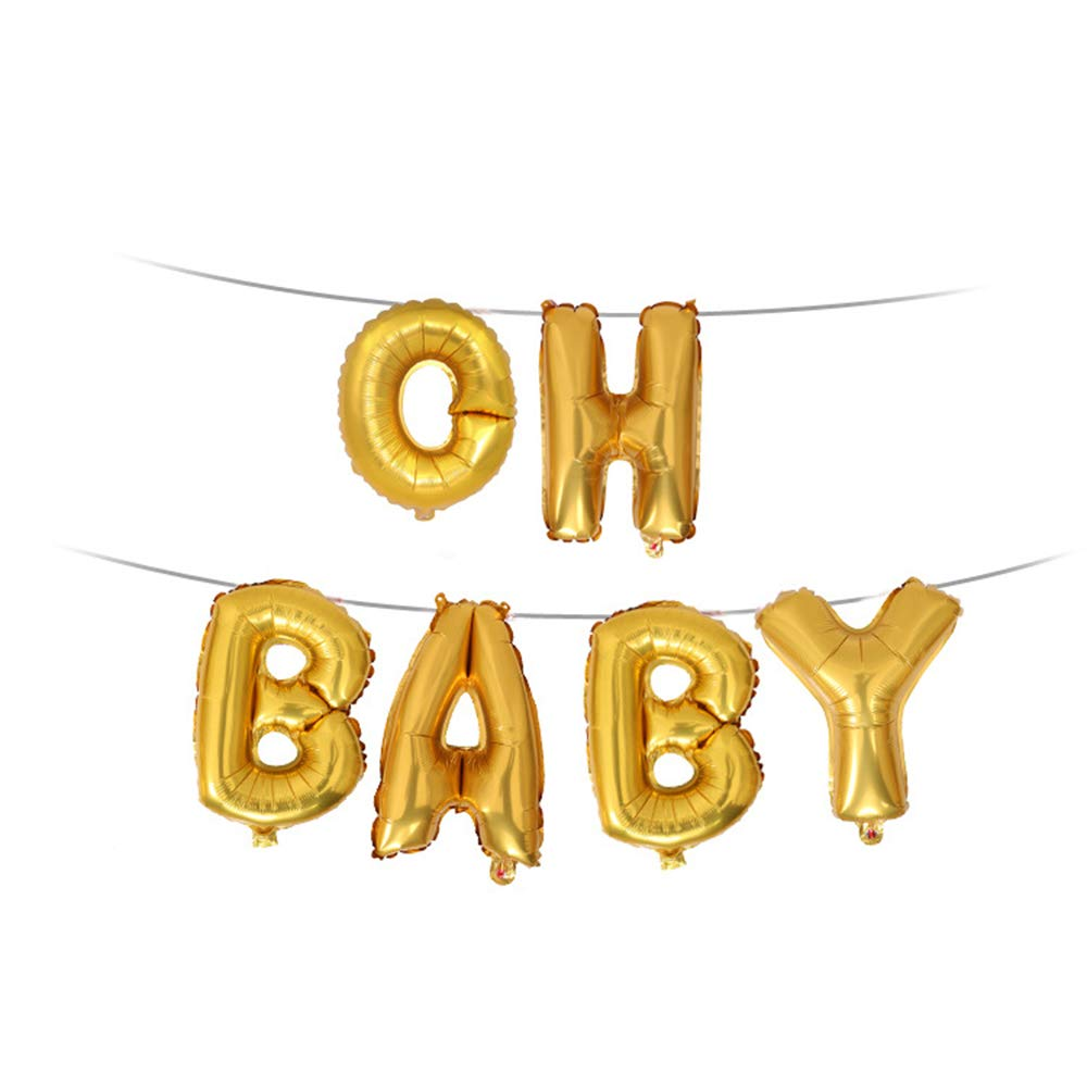 Morenitor Foil Balloon, 3 Colors Oh My Baby Shape Celebration Balloon Gifts for Baby Parties Birthday Decoration QJGB17508MXS6M20G7GTAFU0Q