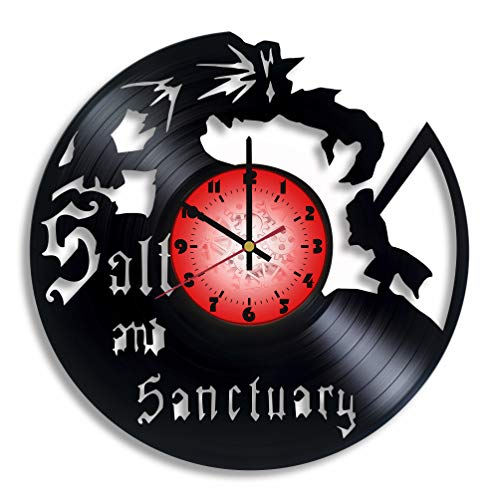 Price comparison product image Salt and Sanctuary Computer Game Logo Handmade Vinyl Record Wall Clock,  Salt and Sanctuary Kitchen Decor,  Salt and Sanctuary Gift for him and her