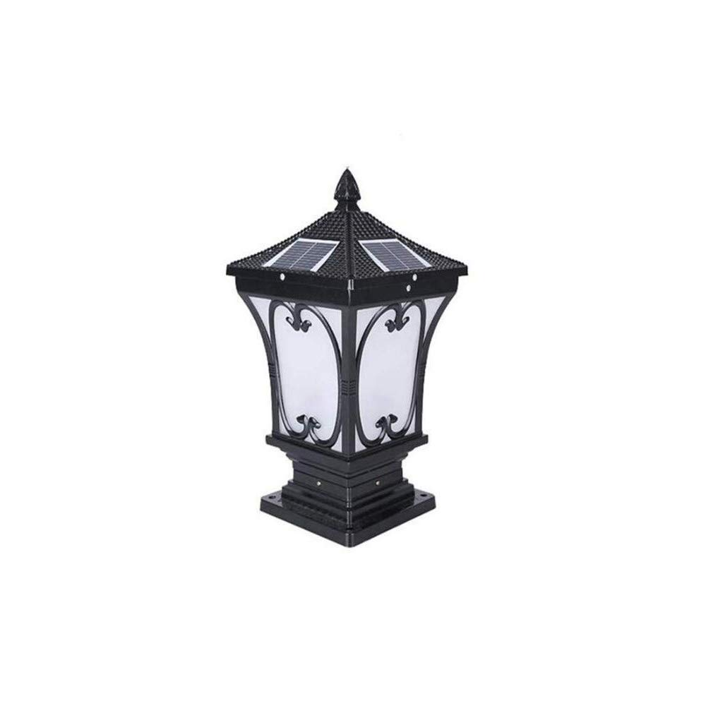 Magosca Pillar Lamp Solar Outdoor Garden Lamp Post Lamp Wall Lamp Door Lamp Wall Lamp Home Outdoor LED Column Lamp Fence Villa Door Decoration White Light Street Path Lamp (Size : Height-36cm)