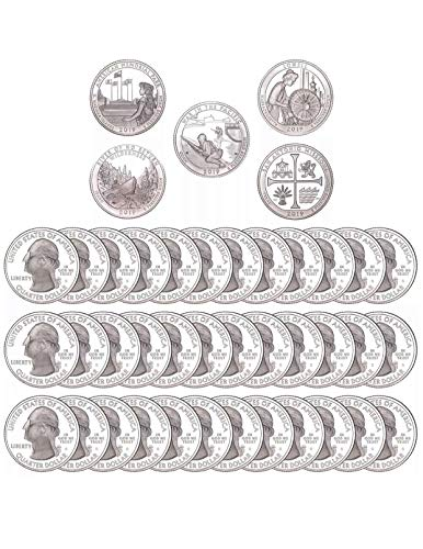 (2019 S America The Beautiful 2019 Roll of 40 Coins Deep Cameo Proofs Clad Proof)