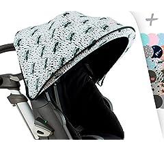 JANABEBE Cubre capota para Coche Stokke Xplori y crusi (BLACK STAR): Amazon.es: Bebé
