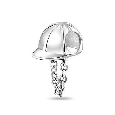 eecfcc6da Bling Jewelry Sterling Silver Equestrian Jockey Helmet Hat Bead Fits Pandora:  Amazon.co.uk: Jewellery