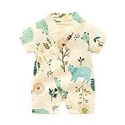 PAUBOLI Kimono Robe Newborn Cotton Yarn Robe Baby Romper Infant Japanese Pajamas (3-6 Months, Forest)