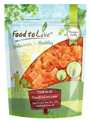 Dried Diced Papaya, 2 Pounds - Kosher, Vegan, Sweetened, Unsulfured, Bulk