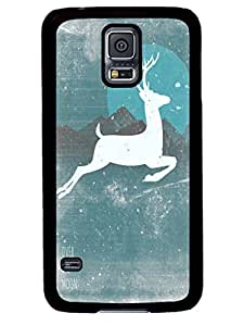 Personalize offerings Over The Moon Cute Samsung Galaxy S5 I9600 TPU Black Case Cover