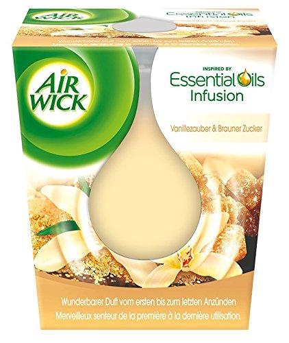 Air Wick Wohlfühl Duftkerze Vanille und Brauner Zucker, 3er Pack (3 x 105 ml)