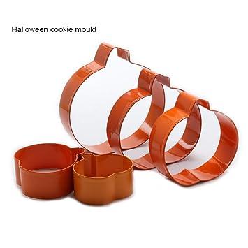 Hyz 5 Pcs 3d Citrouille Moule A Biscuit Halloween Moule A Cake