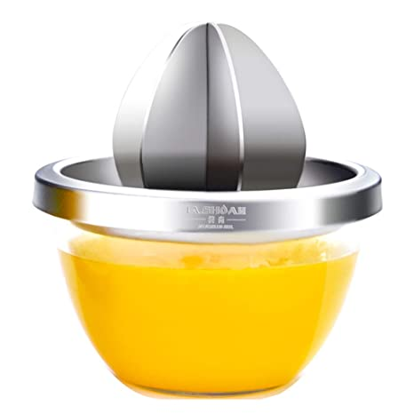 Exprimidor manual de acero inoxidable al aire libre, fruta, limón, limón, naranja