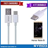 Syrox 20-Pack USB Type-C Cable, Reversible 4 ft Ultra Durable Fast Charging for Honor Note 8, Samsung Galaxy Note 8, S8 Plus, LG V30, V20, G6, G5, Google Pixel, 6P, Nintendo Switch and All