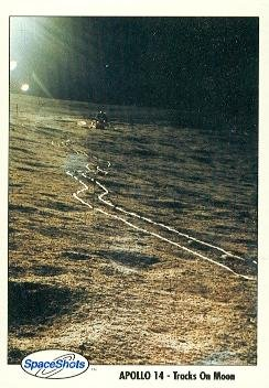 Apollo 14 - Tracks On Moon trading card (SpaceShots) 1990 Space Ventures #39