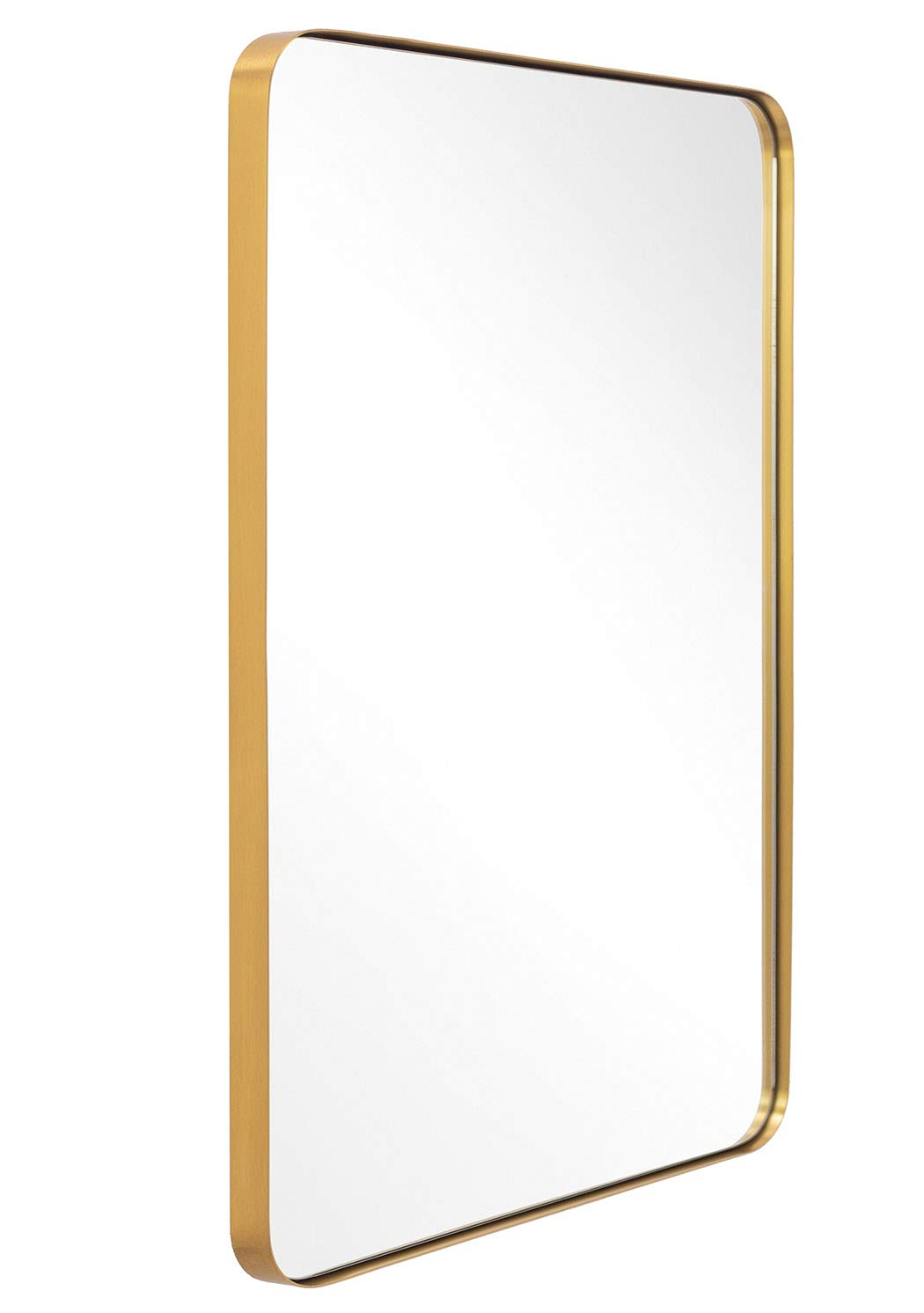"""ANDY STAR Bathroom Mirror, Contemporary Brushed Metal Wall Mirror 22"""" x 30"""" 