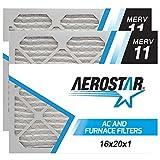 11 1 2 x 11 1 2 air filter - 16x20x1 AC and Furnace Air Filter by Aerostar - MERV 11, Box of 2