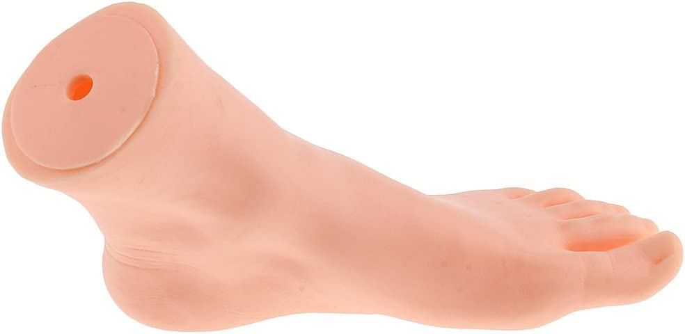 LOVIVER 9.4 Female Foot Mannequin Foot Model for Shoes Sandal Socks Display