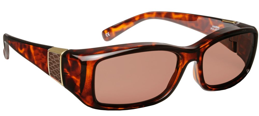 Haven Fitover Sunglasses Freesia in Tortoise with Leather & Polarized Amber Lens