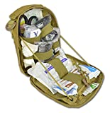 quick clot advanced - Lightning X Individual First Aid Trauma/Hemorrhage Control Kit In MOLLE IFAK Pouch Value Edition - TAN