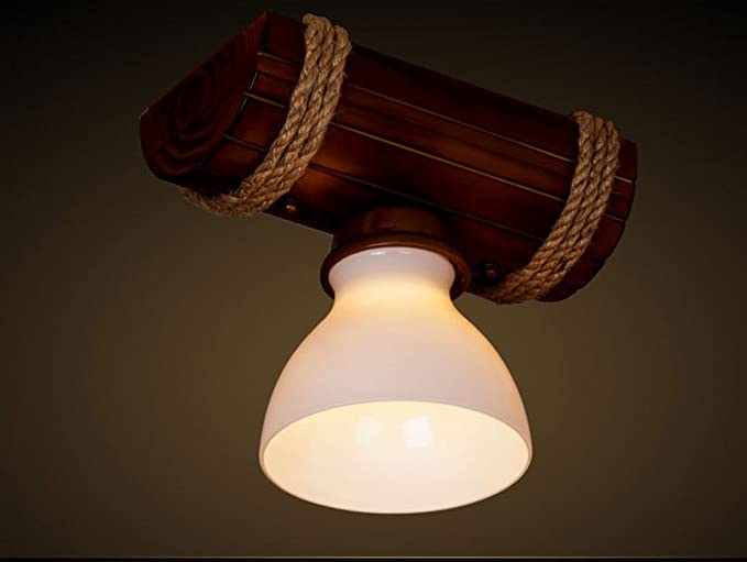 Jcrnjsb® lampade a sospensione in legno corda a canna da cucina in