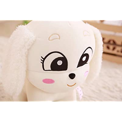 Big Eyes Dog Plush Toy, Peluches de Peluche Lindos y Lindos para Perros, Baby Doll, Regalos de cumpleaños para niños, Regalo 22cm (Blanco): Juguetes y juegos