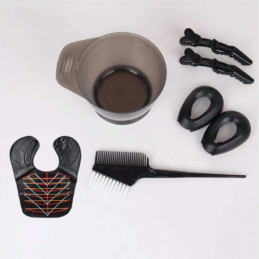 Marceooselm DIY Beauty Salon Tool Kit- Hair Tinting Bowl,Brush Comb,Ear Cover,Hair Coloring Cape, Clip by Marceooselm