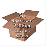 Pine Straw Mulch - 14 '' Premium Long Needle - 240 Sqft - New Bigger Box