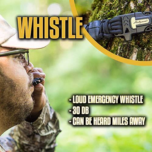 Holtzman's #1 Best Paracord Keychain Carabiner Survival Tool (Elite) by Holtzman's Gorilla Survival (Image #6)