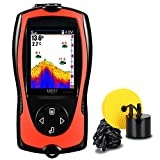 LUCKY Portable Fish Finder Handheld Kayak Fish Finders Wired Fish Depth Finder Sonar Sensor Transducer for Boat Fishing Sea Fishing