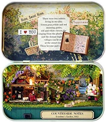 DIY Miniatuur Handgemaakte Doos Poppenhuis Houten Huis Mini Pop Huis Goede Oude Tijd Thema Gemonteerd Model Decoratieve Huis Landelijk