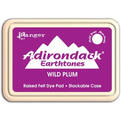 Plum Ink - Ranger ASP-19077 Adirondack Earthtones Ink Pad, Wild Plum