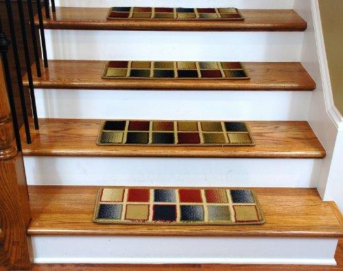 Premium Carpet Stair Treads Checkerboard