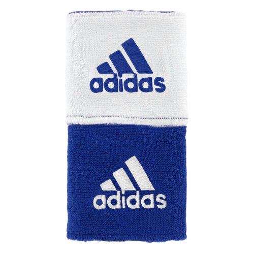 adidas Interval Reversible Wristband, Collegiate Royal/White / White/Collegiate Royal, One Size Fits All by adidas (Image #1)