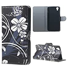 Alcatel Case, Candy House Alcatel OneTouch Idol 3 4.7 inch Case Simple Orchid Flower Pattern Horizontal Wallet Case Magnetic Closure Flip Cover