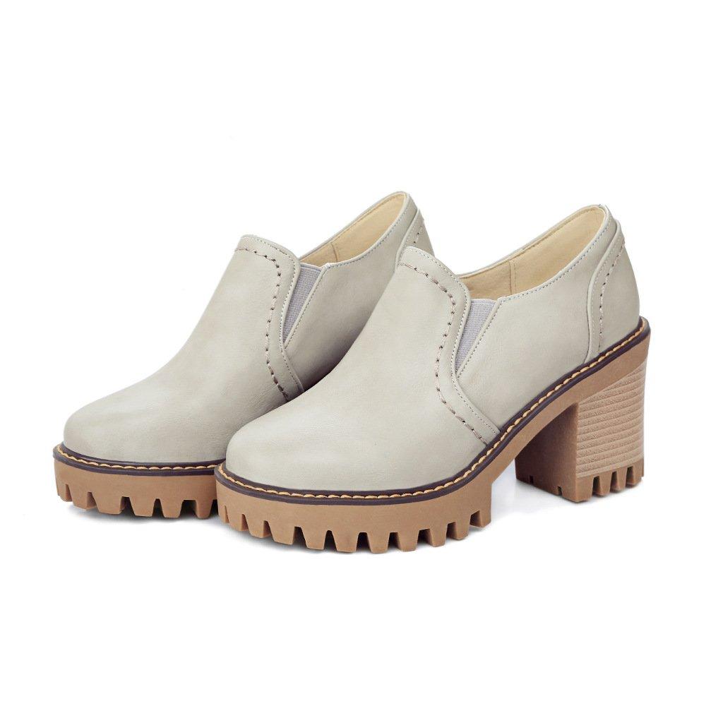 CXQ-Stiefel QIN&X Damens's Kopf Block Ferse Fersen runden Kopf Damens's kurz Ankle Stiefel Schuhe Grau bb2cdf