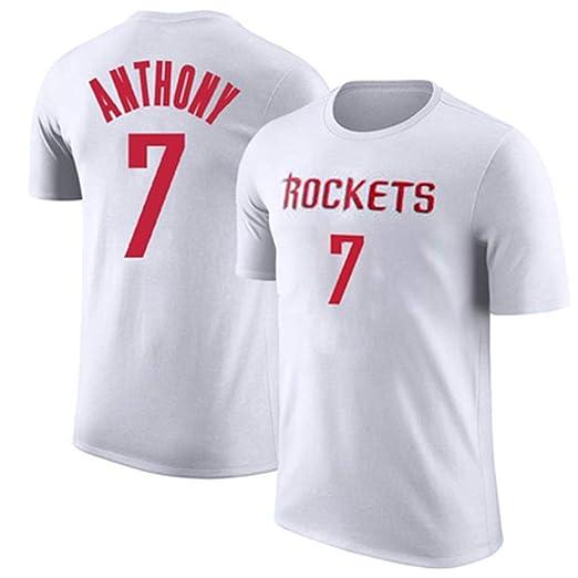 HYYSH Rockets Anthony Séptima Camiseta de Manga Corta de ...