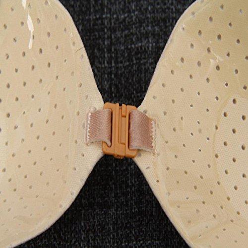 HSNZZPP Transpirable No Silicona Correa De Hombro Pechos Sujetador Invisible De La Ropa Interior De La Boda Pasta Sujetador Invisible Antideslizante Color