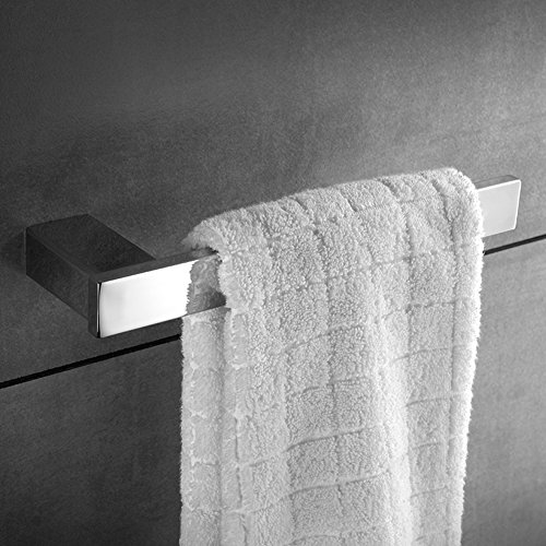 KOOLIFT Towel Ring Open and Bar Rack 10-1/2 Inch Paper Bathroom Hand Towel Holder Stainless Steel Wall Mount Hanger Polished Chrome by by KOOLIFT