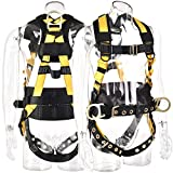 WELKFORDER 3D-Rings Industrial Fall Protection Safety Harness With Waist Tounge Buckle | Leg Tounge Buckles | Waist & Shoulder Pad Support ANSI Certified Full Body Personal Protection Equipment