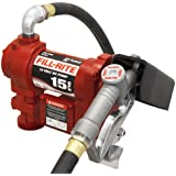 Fill-Rite FR1210C Fuel Transfer Pump, Telescoping Suction Pipe, 12-Feet Delivery Hose, Manual Release Nozzle-12V, 15 GPM