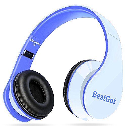 [New Style] BestGot Headphones Over Ear with microphone In-line Volume with Transport...