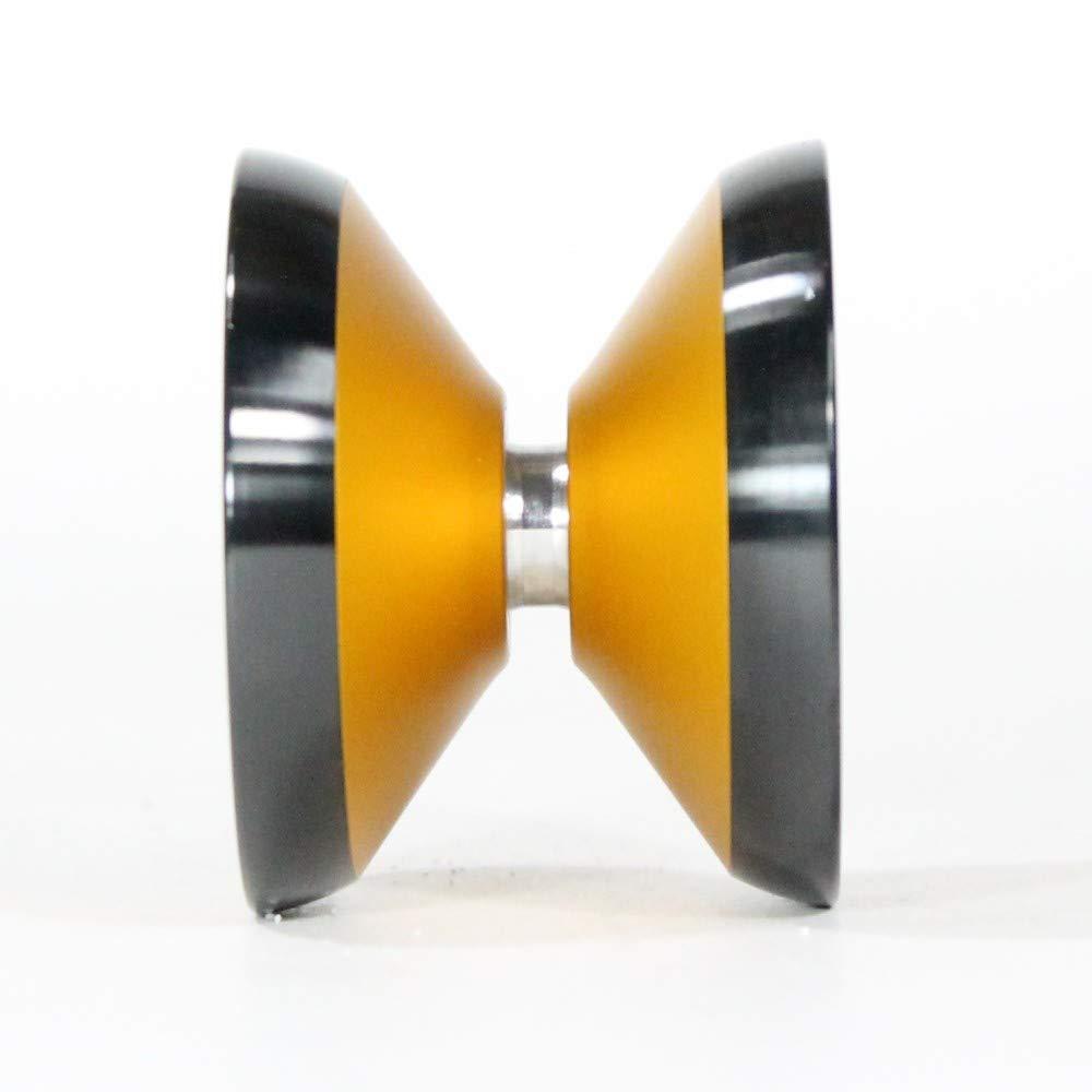 yoyofriends Hummingbird Yo Yo - 7068 Aluminium with Stainless Steel Rims (Orange with Black Ring) by yoyofriends (Image #3)