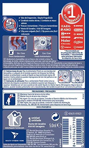 Finish Ambientador para Lavavajillas Limón - 60 lavados duplo (120 ...