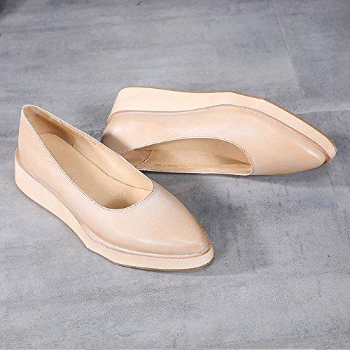Baja Zapatos densa Boca Moda Zapatos Cuña de Comodidad de acentuada ZFNYY de Plataforma Cuña de Personalidad UvXqXB