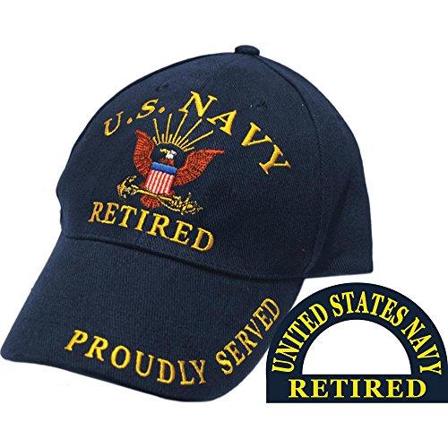 United States Navy Retired Blue Hat Cap USN