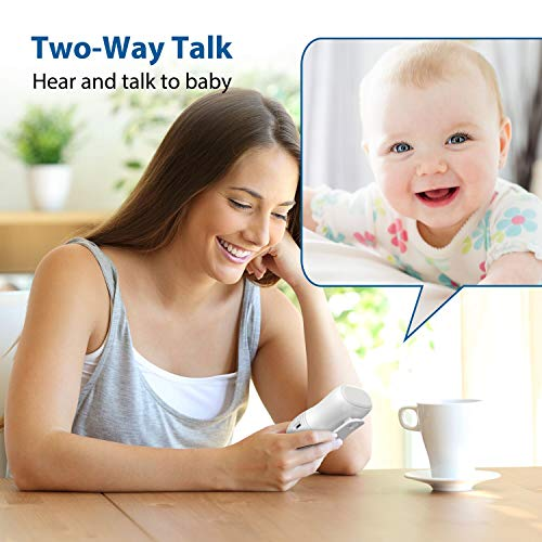 Willcare Baby Monitor, Portable Digital Audio Baby Monitor with Up to 1000ft Operating Range, Two-Way Talking Feature, Heavy-Duty Rechargeable Battery & HD Sound Listening System